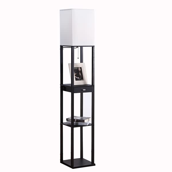 black floor lamp,floor lamp with shelf | Goodly Light-GL-FLWS004 Featured Image