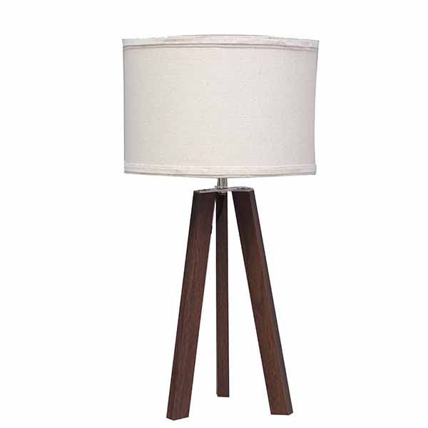 Bedside Lamp,cheap Wood Tripod, Soft Warm Light for Bedroom Decorated 2
