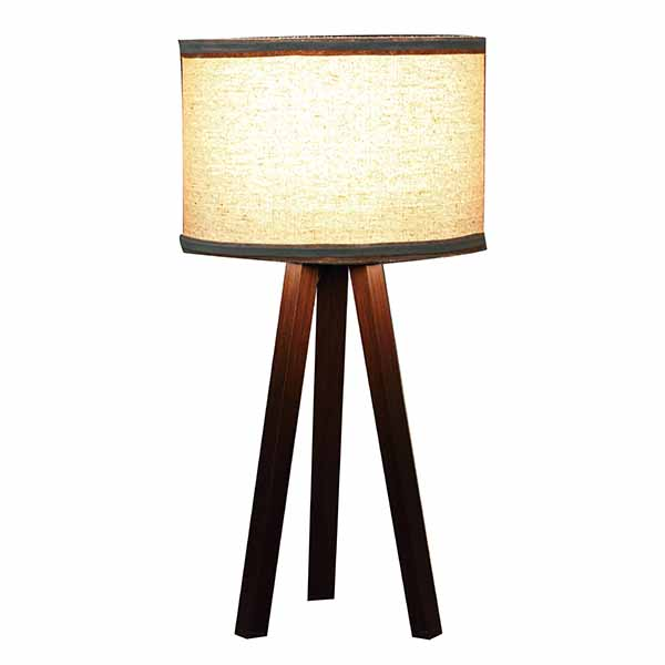 Bedside Lamp,cheap Wood Tripod, Soft Warm Light for Bedroom Decorated 4