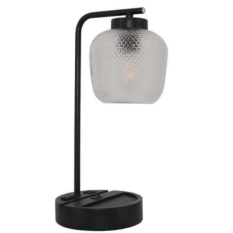 Black Metal Bedside Lamp 1
