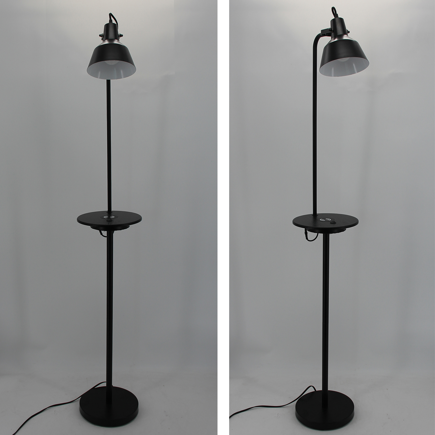 Black Metal Floor Lamp-1