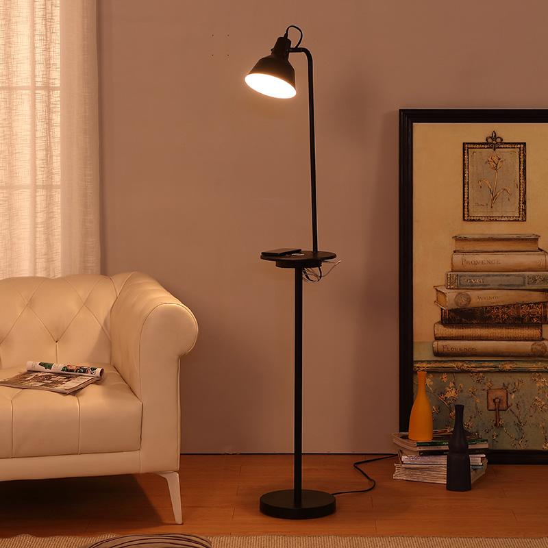 Black Metal Floor Lamp-10