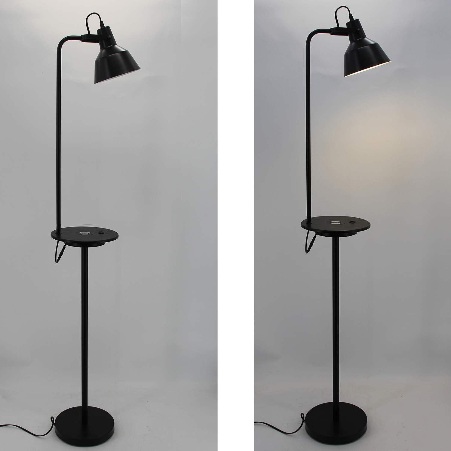 Black Metal Floor Lamp-2