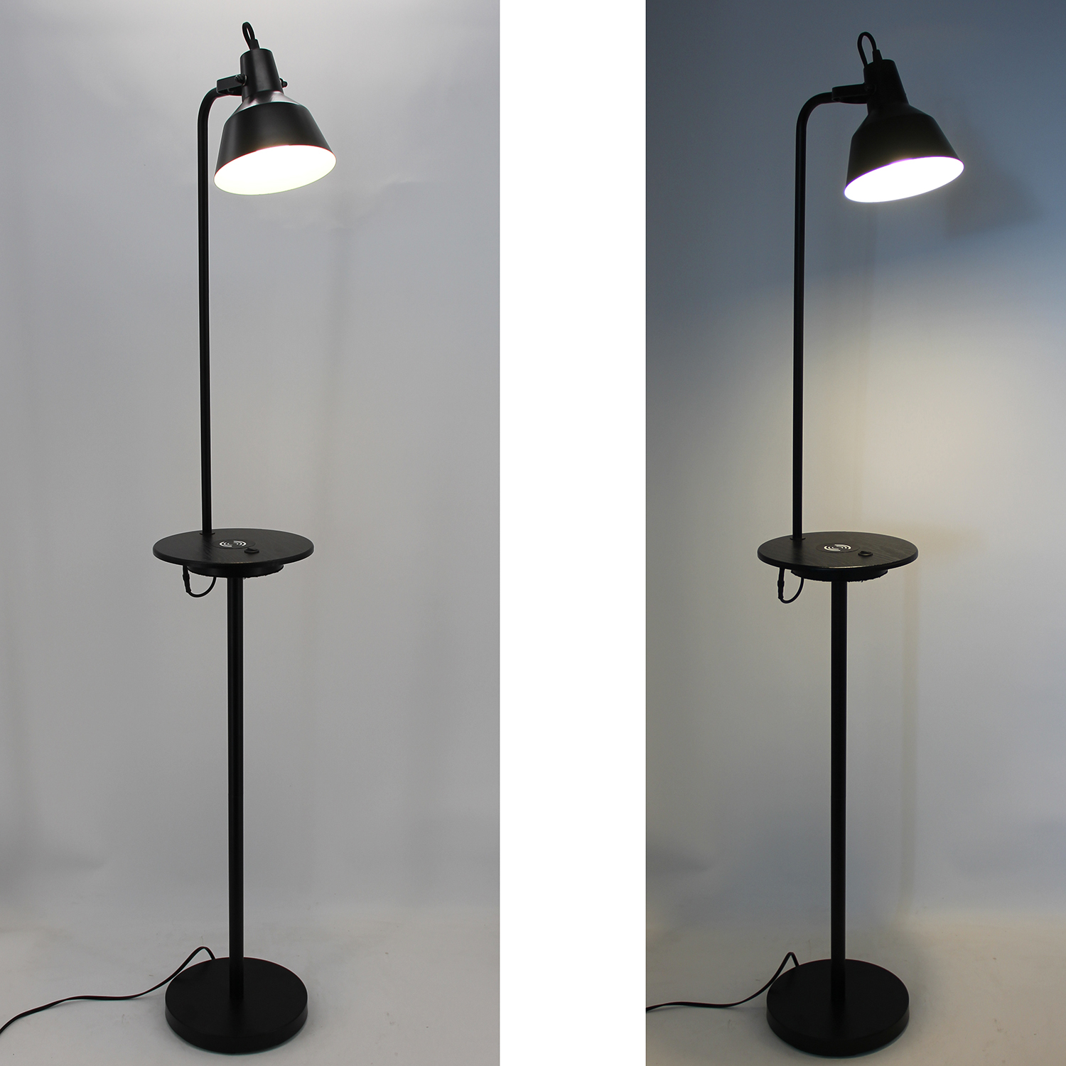 Black Metal Floor Lamp-3