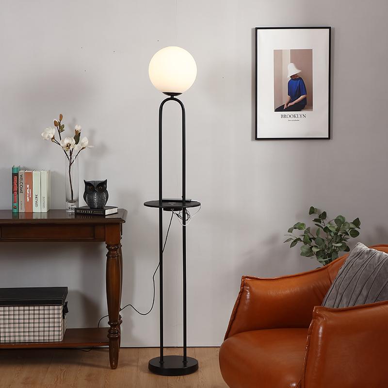 Black Metal Floor Lamp-8