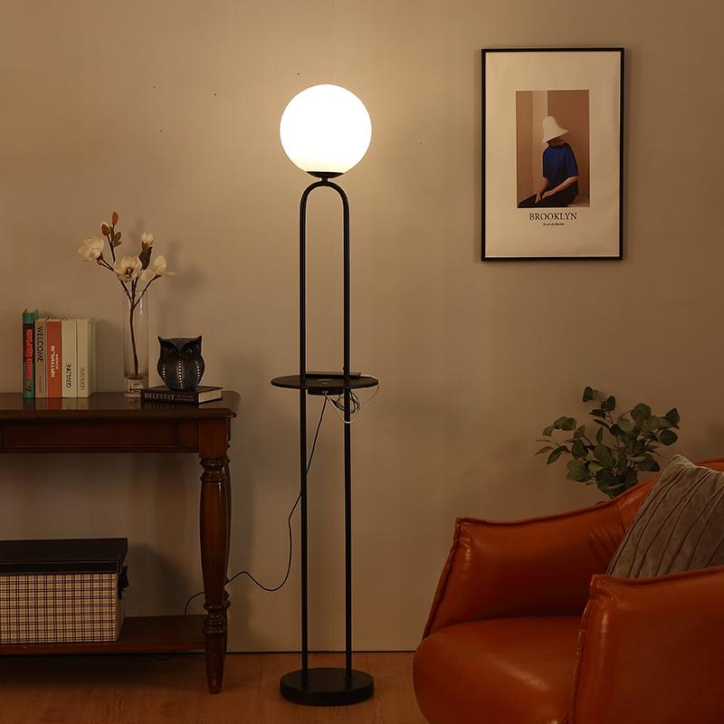 Black Metal Floor Lamp-9