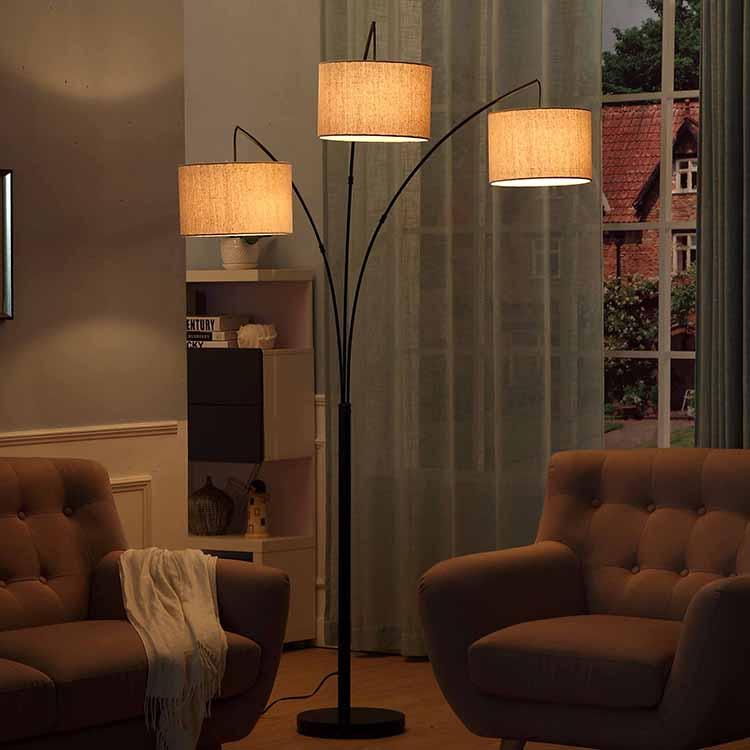 Black Tall Multiple Head Arc Lamp 2