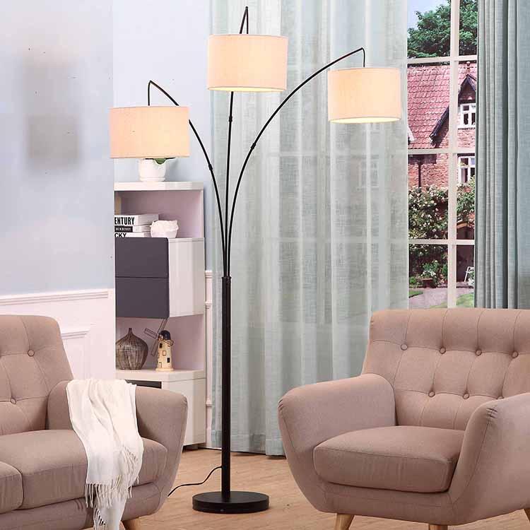 Black Tall Multiple Head Arc Lamp 3