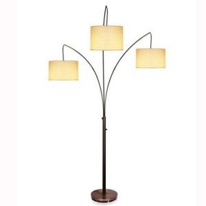 3cestná stojací lampa, černá stojací lampa, lustrová stojací lampa |  Dobře světlo-GL-FLM03