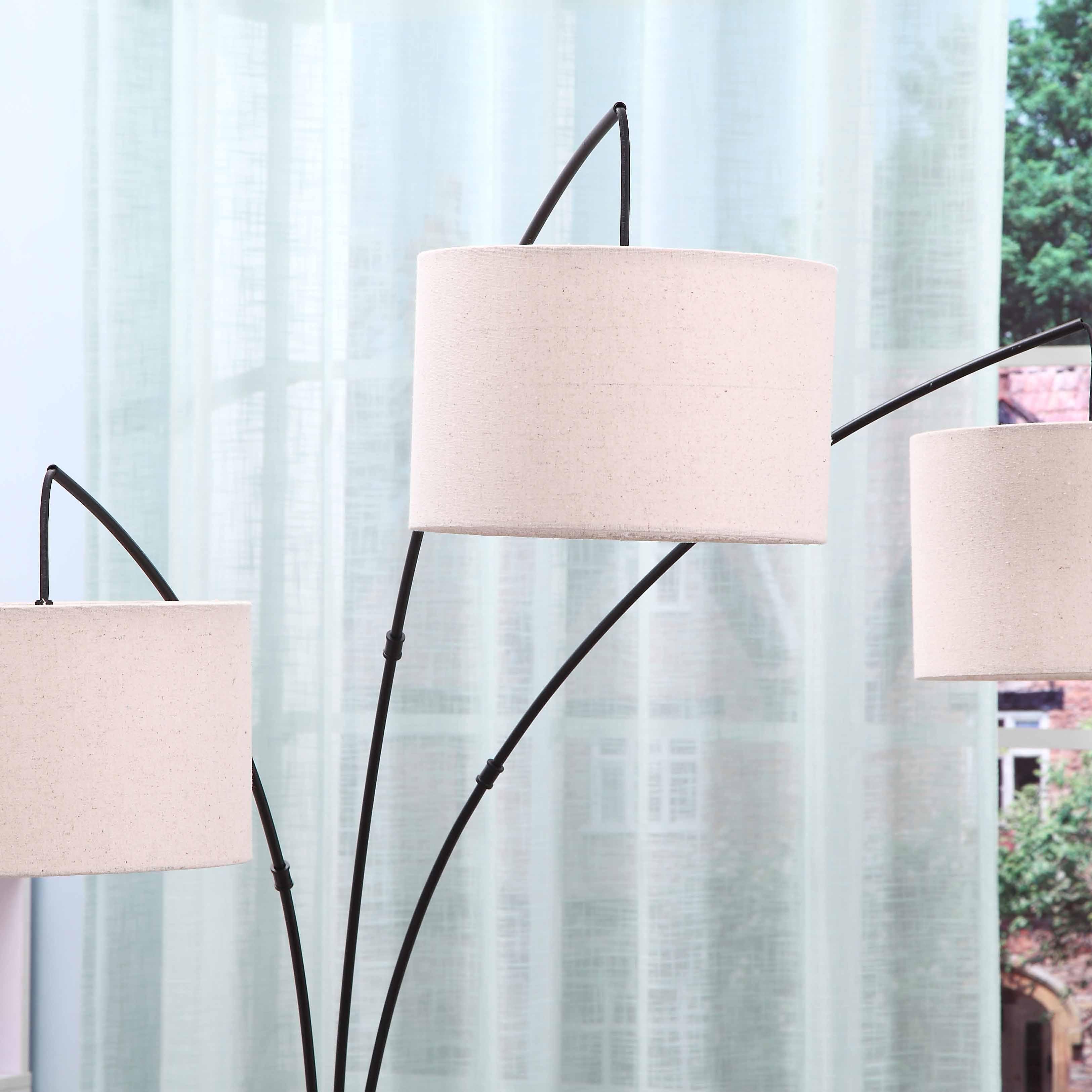 Black Tall Multiple Head Arc Lamp details 3