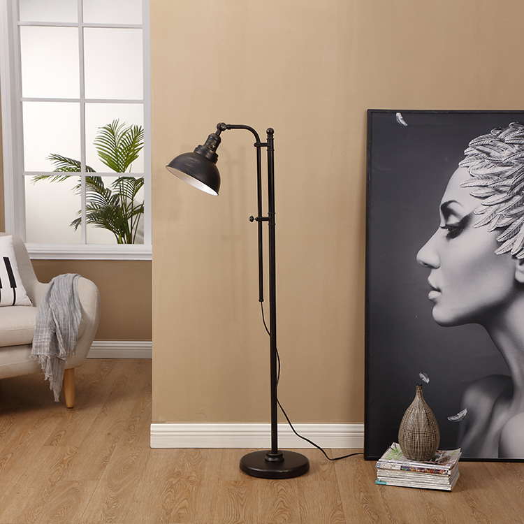 Black and Gold Floor Lamp 3