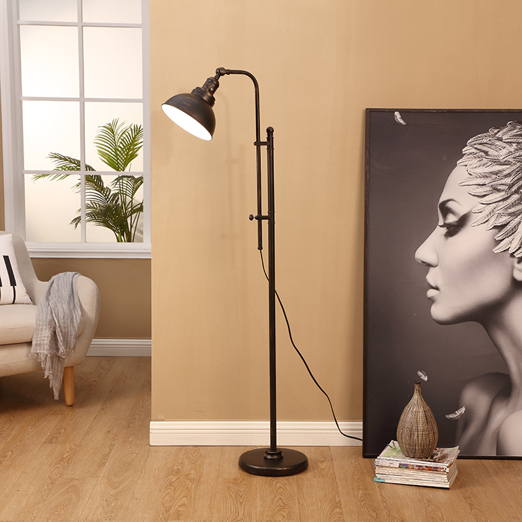 Black and Gold Floor Lamp 5