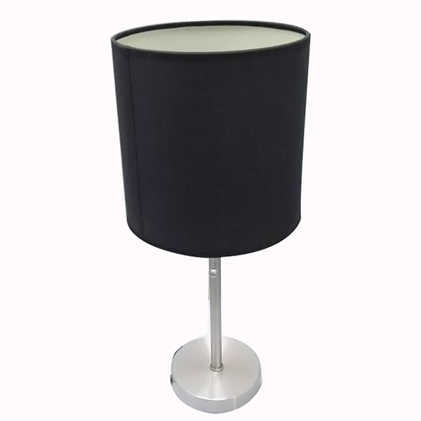 Brushed Steel Metal Table Lamp 2