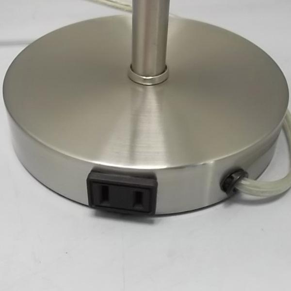 Brushed Steel Metal Table Lamp 3