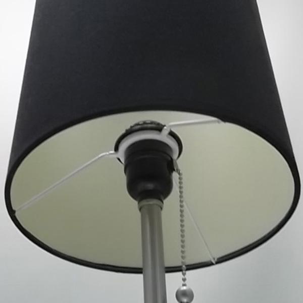Brushed Steel Metal Table Lamp 4