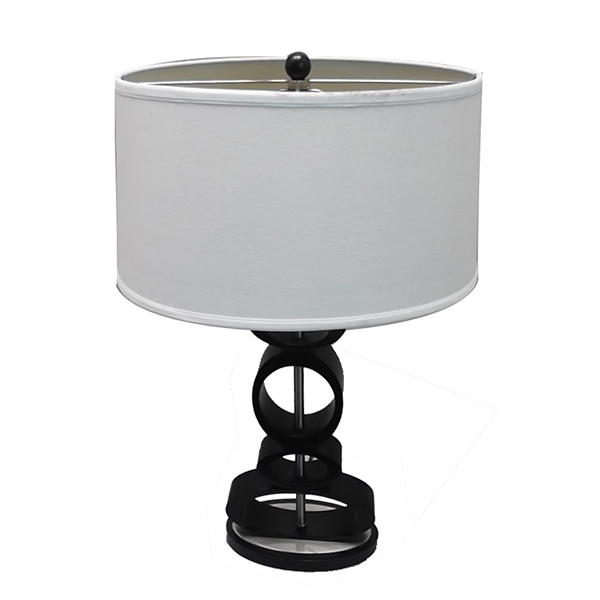 Contemporary Design, Classic black, Espresso and Brushed Steel Finished Modern Table Lamp 1