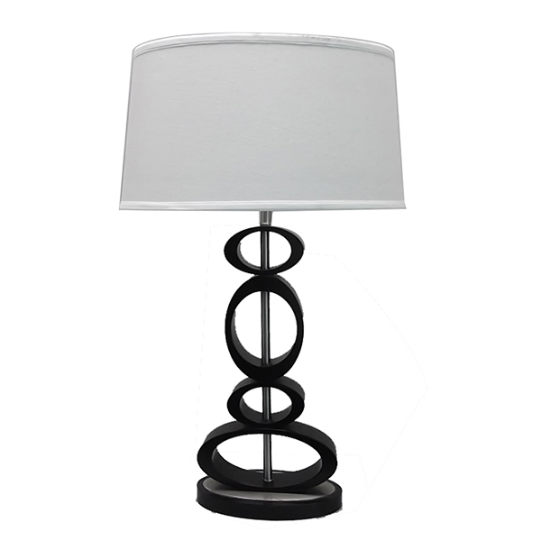 Contemporary Design, Classic black, Espresso and Brushed Steel Finished Modern Table Lamp 2