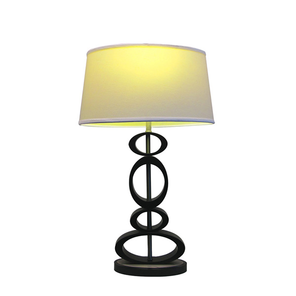 Contemporary Design, Classic black, Espresso and Brushed Steel Finished Modern Table Lamp 3