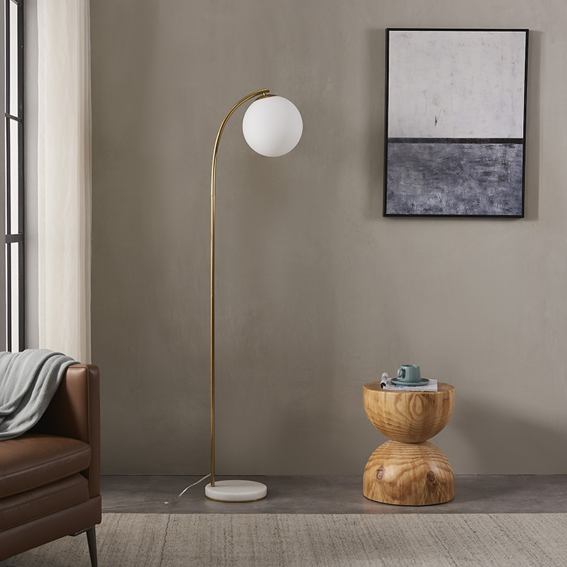 Curved Gold Floor Lamp-3
