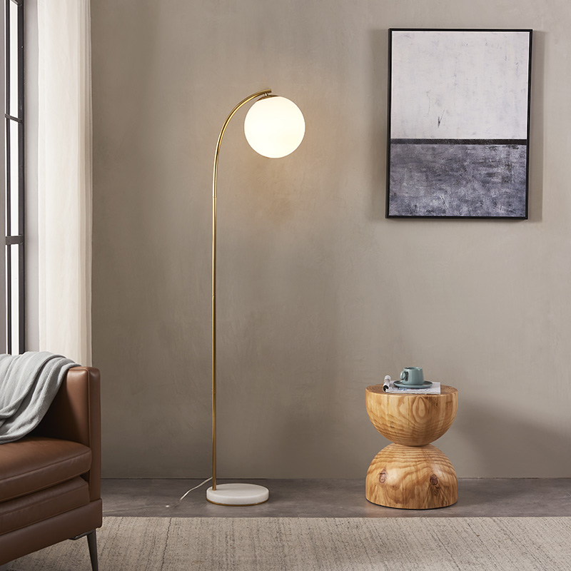 Curved Gold Floor Lamp-4