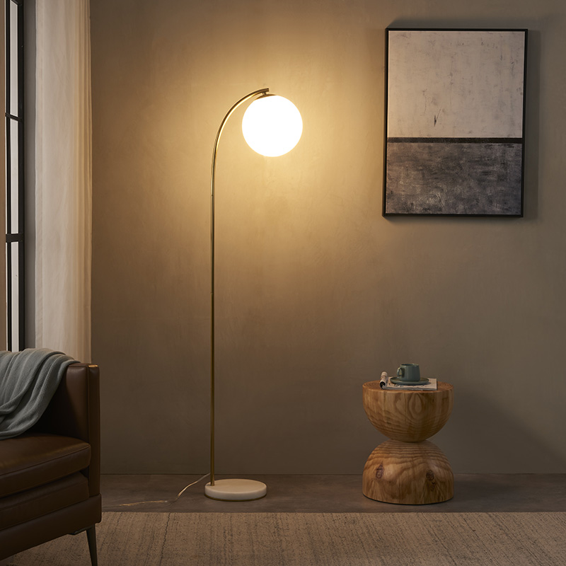 Curved Gold Floor Lamp-5