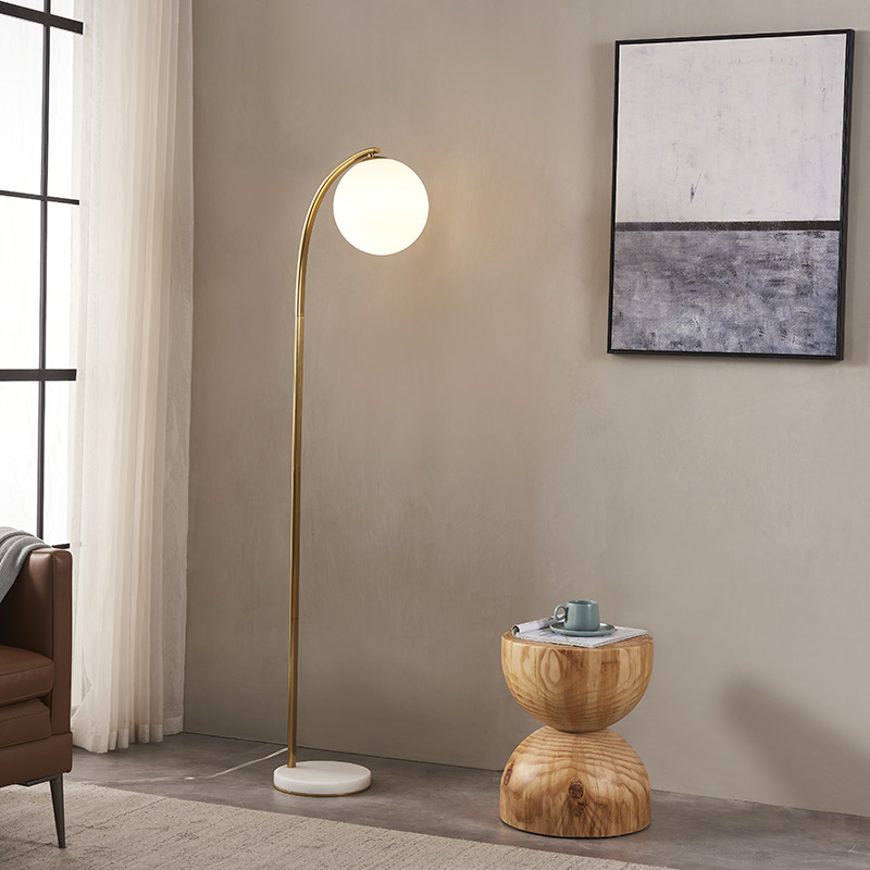 Curved Gold Floor Lamp-6