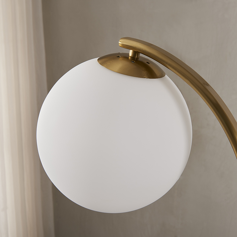 Curved Gold Floor Lamp-7