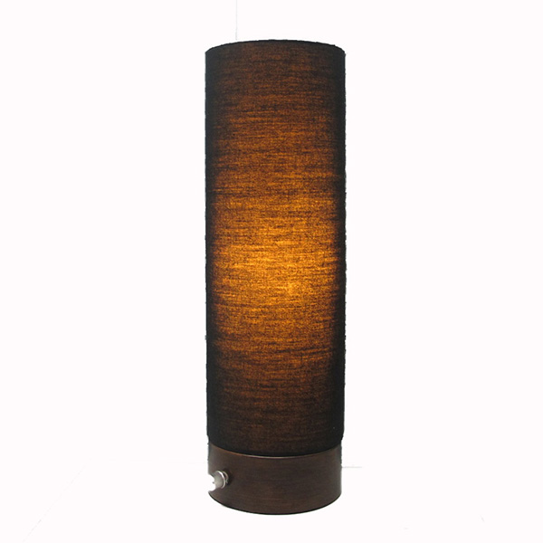 Cylinder Black Lamp Shade Night Light 2