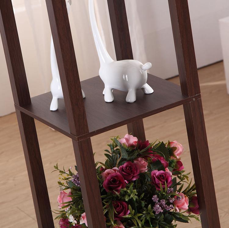 Elegant Wooden Shelf Floor Lamp-details1
