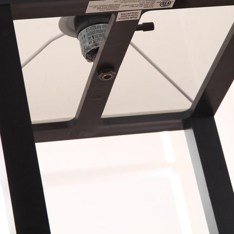 Elegant Wooden Shelf Floor Lamp-details2