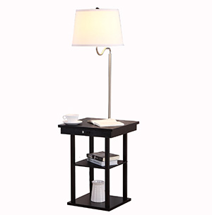 End Table Lamp-white1