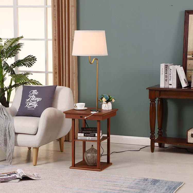 End Table Lamp-white3
