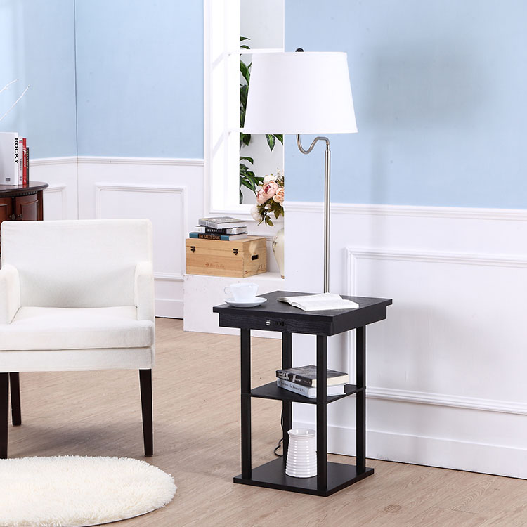 End Table Lamp with USB Charge Port  5