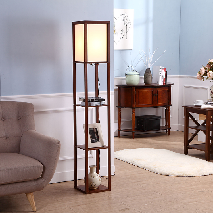 Etagere Organizer Storage Shelf Floor Lamp-Wanult1
