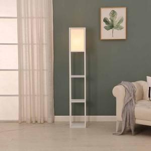 Etagere Organizer Storage Shelf Floor Lamp-white 2
