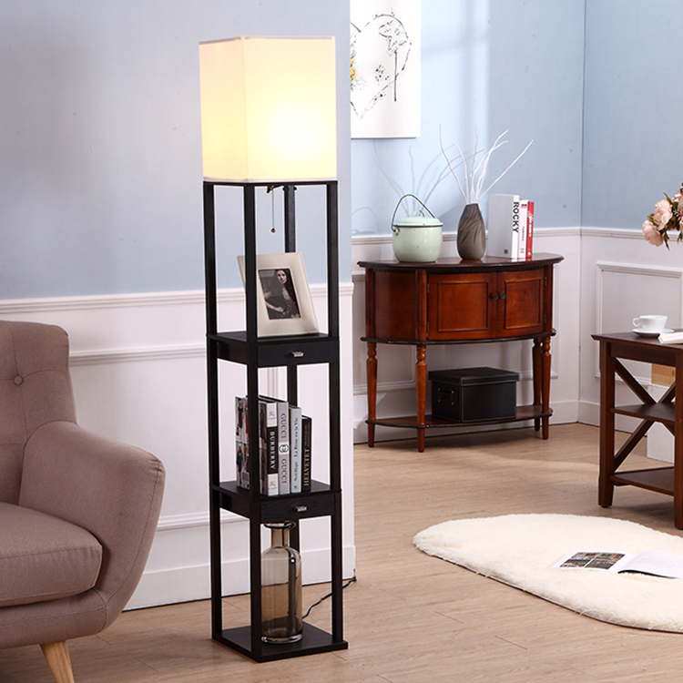 Floor Lamp-2 Shelves-2