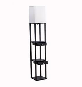 Floor Lamp with Storage Shelves 1