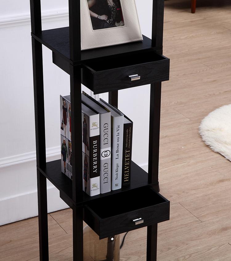 Floor Lamp with Storage Shelves 5