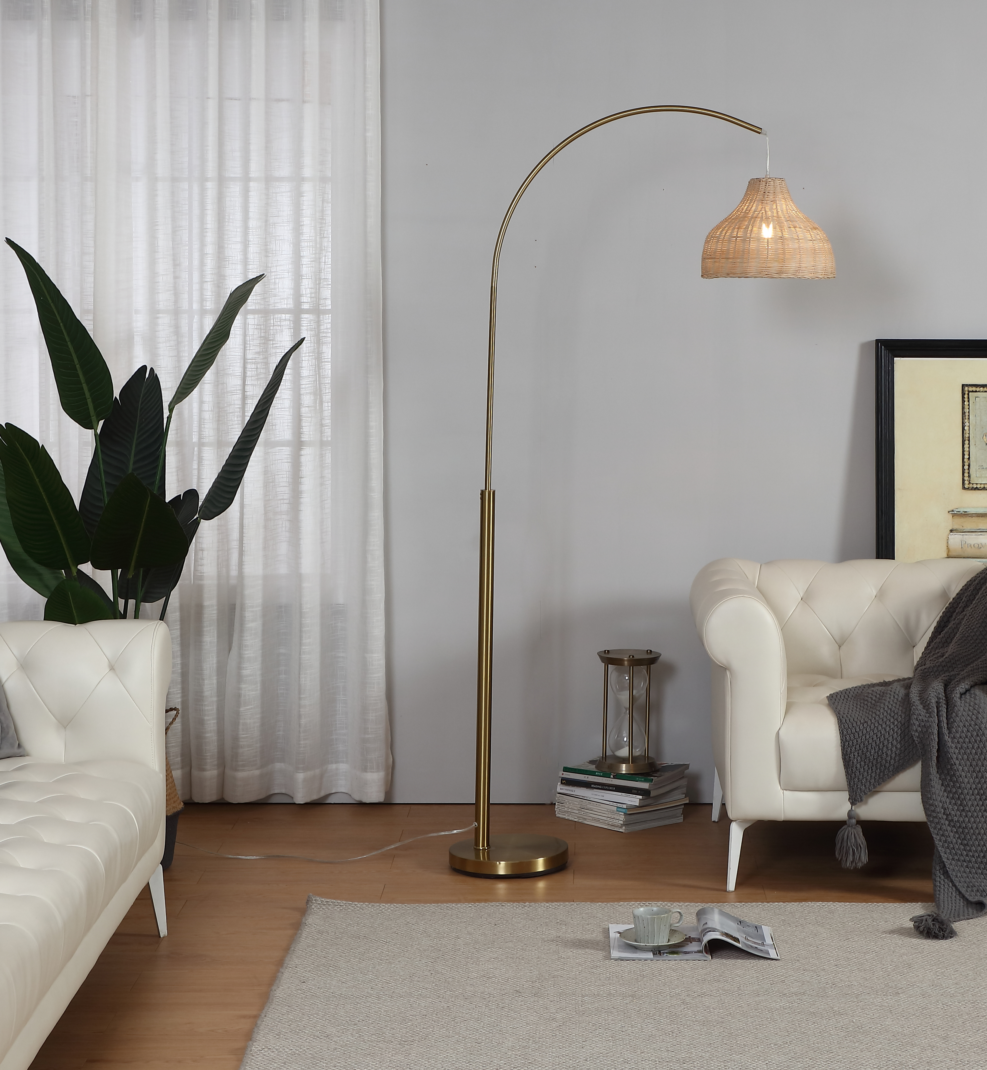 Gold Tall Floor Lamp-4