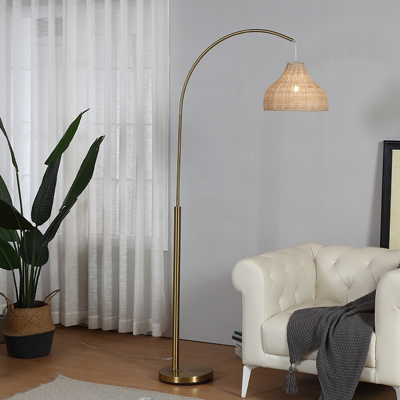 Gold Tall Floor Lamp-5