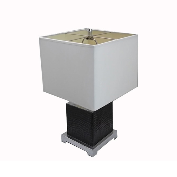 Hotel Black Leather Table Lamp 2
