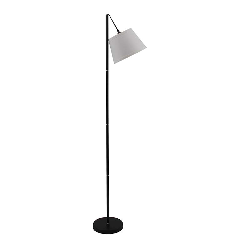LED Floor Lamp with Hanging White Lamp Shade 1