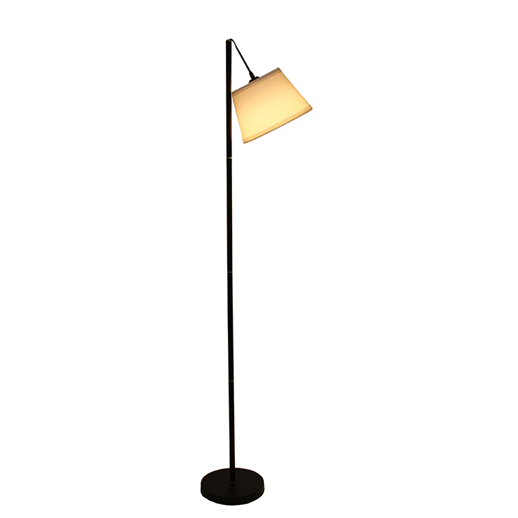 LED Floor Lamp with Hanging White Lamp Shade 2
