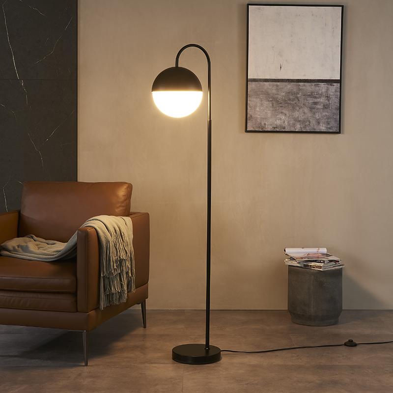 Metal Bow Floor Lamp-5