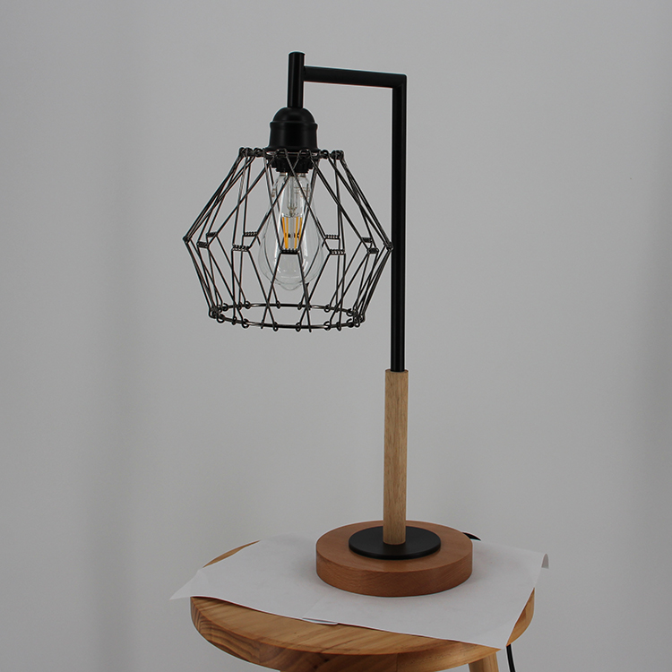 Metal Cage Table Lamp-3