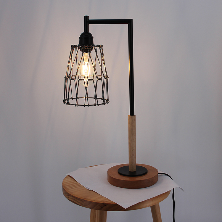 Metal Cage Table Lamp-5