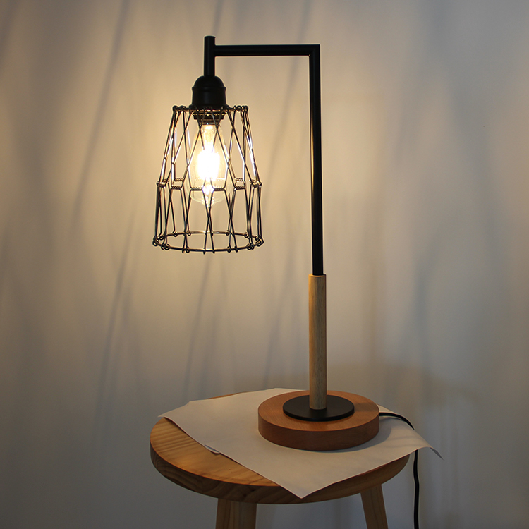 Metal Cage Table Lamp-6