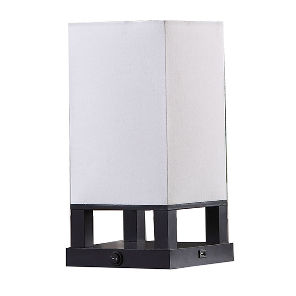 Modern Asian Style Lamp with Wood Frame 1