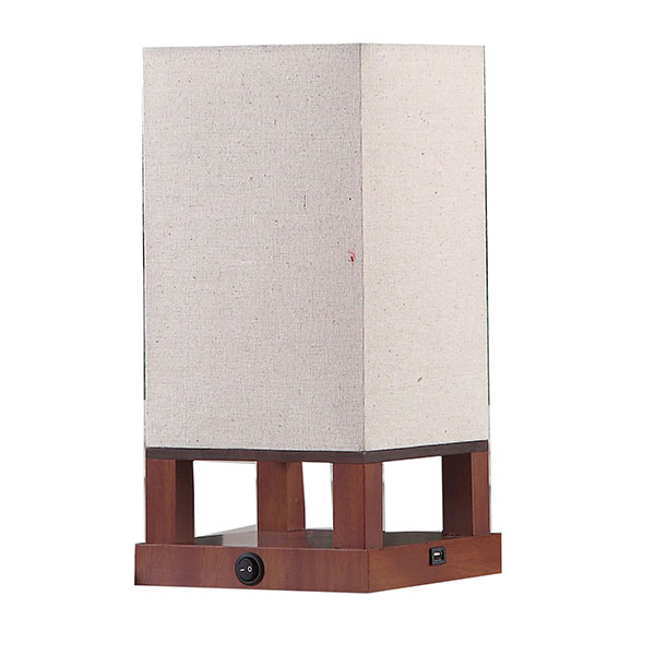 Modern Asian Style Lamp with Wood Frame 2