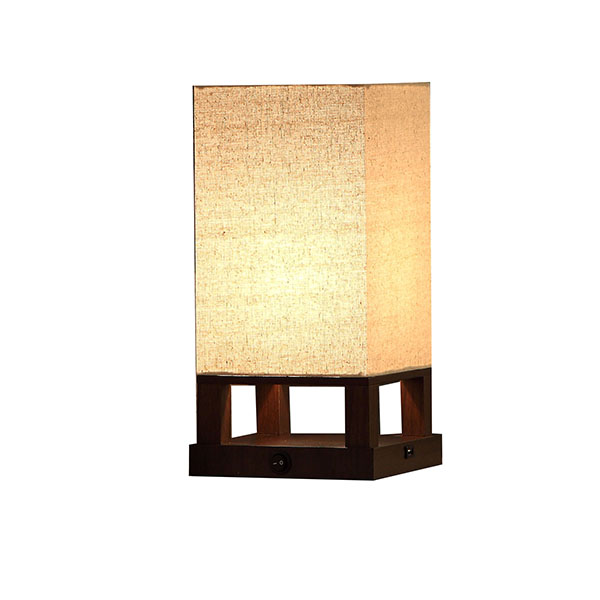 Modern Asian Style Lamp with Wood Frame 3